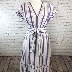 ✨Chelsea & Violet High Low Ruffled Hem Midi Dress